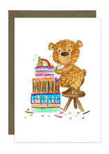 Load image into Gallery viewer, Bear making cake