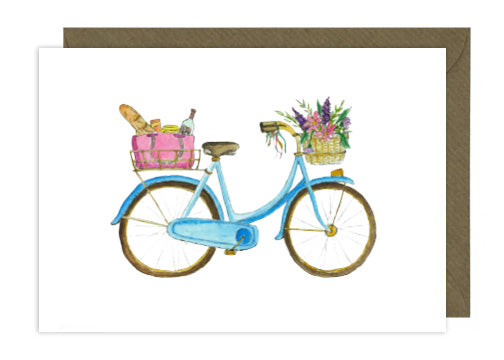Blue Bike with Picnic
