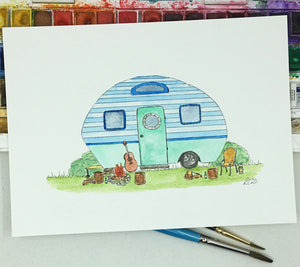 Blue Campervan