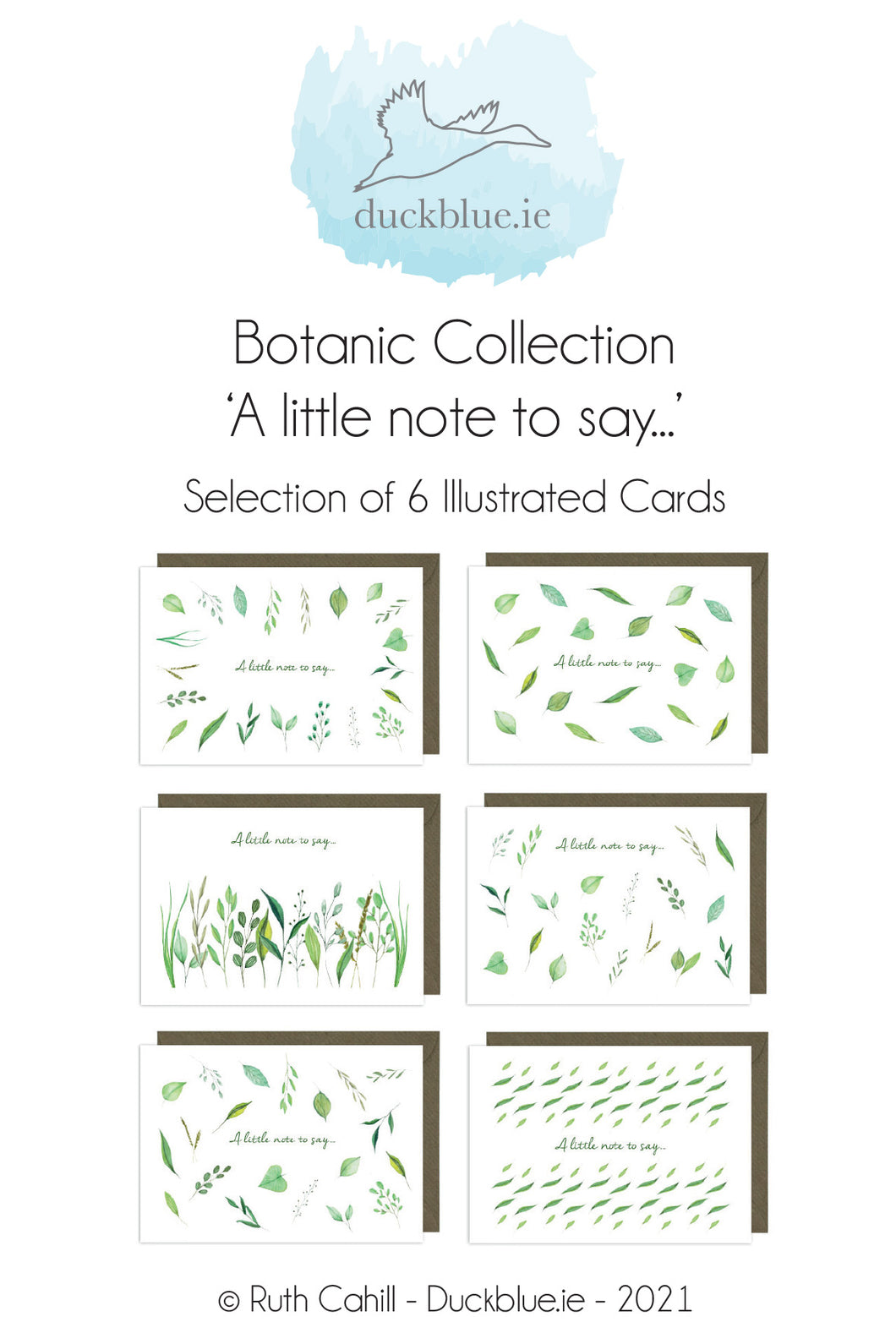 Botanic Collection - A little note to say...