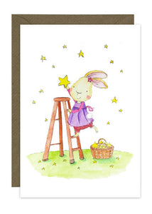 Bunny on Ladder