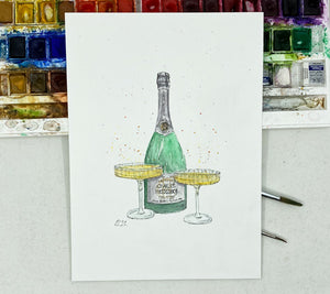 Champagne with Saucer Glasses