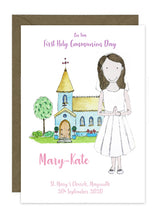 Load image into Gallery viewer, Communion Card - Girl - Dress with Veil