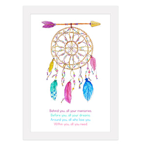 Dreamcatcher with Quote Print