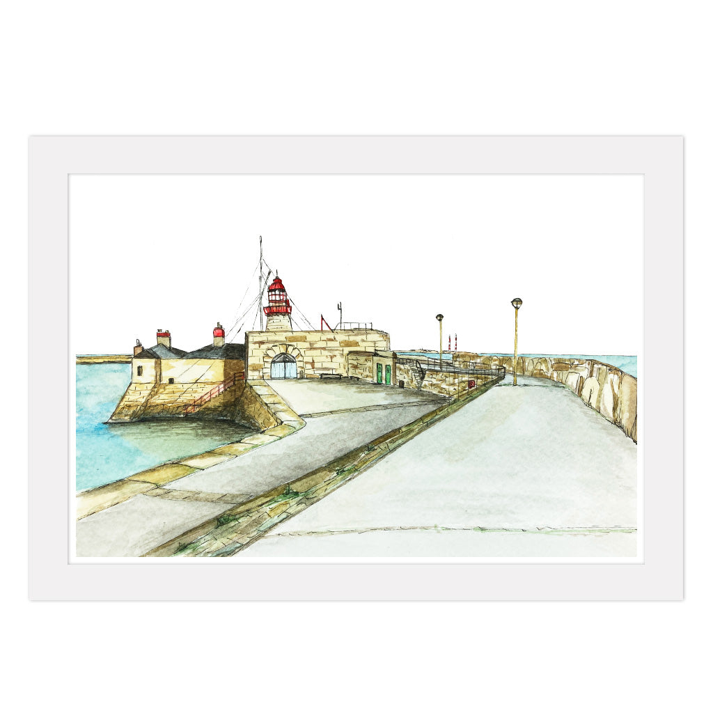 Dun Laoghaire Lighthouse Print