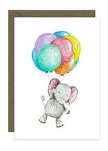 Load image into Gallery viewer, Elephant with Balloons