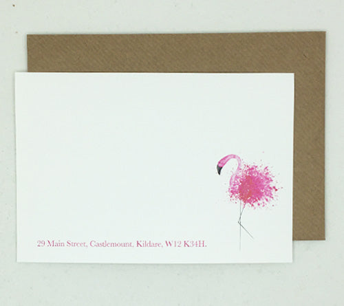 Flamingo Notelet - Box of 20