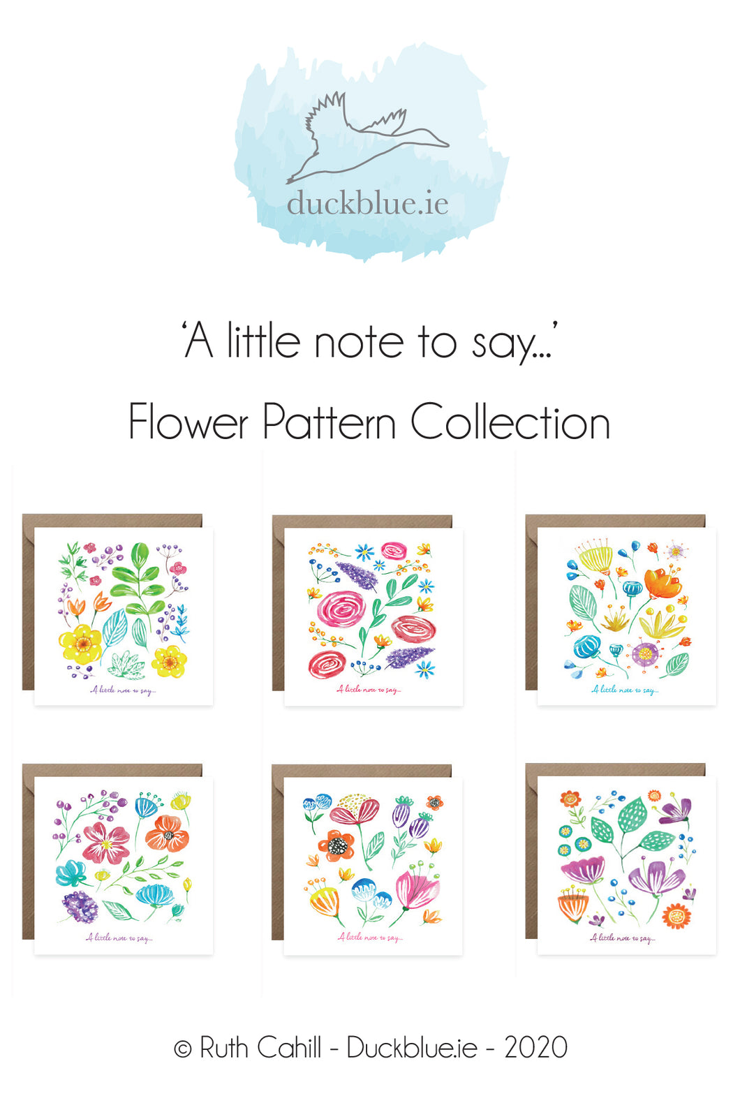 'A little note to say' Flower Pattern Collection