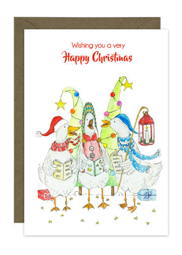 6 Geese Christmas Cards