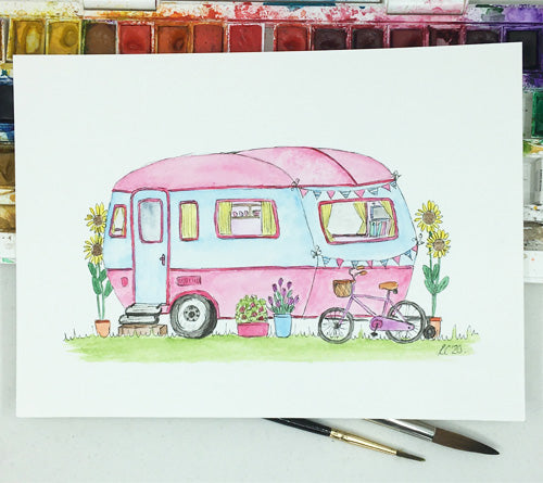 Camper Van with Bike
