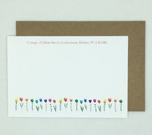 Load image into Gallery viewer, Row of Flowers Notelets - Box of 20
