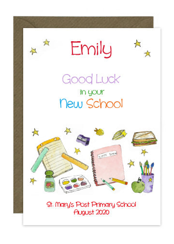 Starting New School - Personalised Card