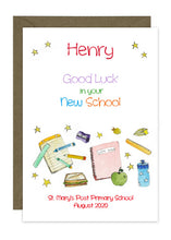 Load image into Gallery viewer, Starting New School - Personalised Card