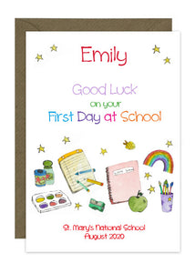 First Day of School - Text Personalised