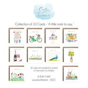 10 Card 'A little note to say...' Box Collection Vol. 3.