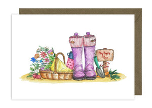 Wellies with flowers