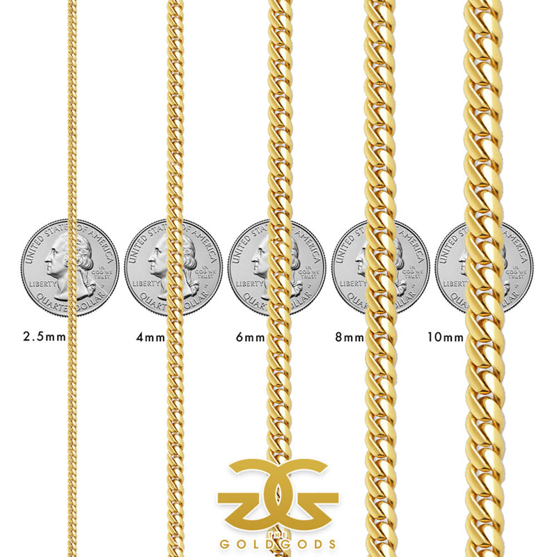 Solid Gold Miami Cuban Link Bracelet (Hollow)