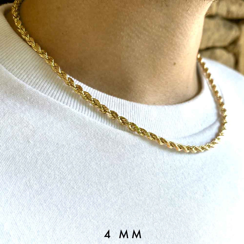 Solid Gold Rope Chain
