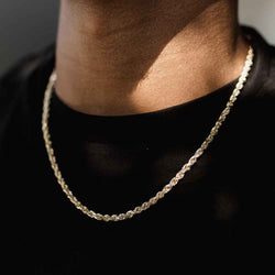 Solid Gold Rope Chain 4mm Golds Gods®