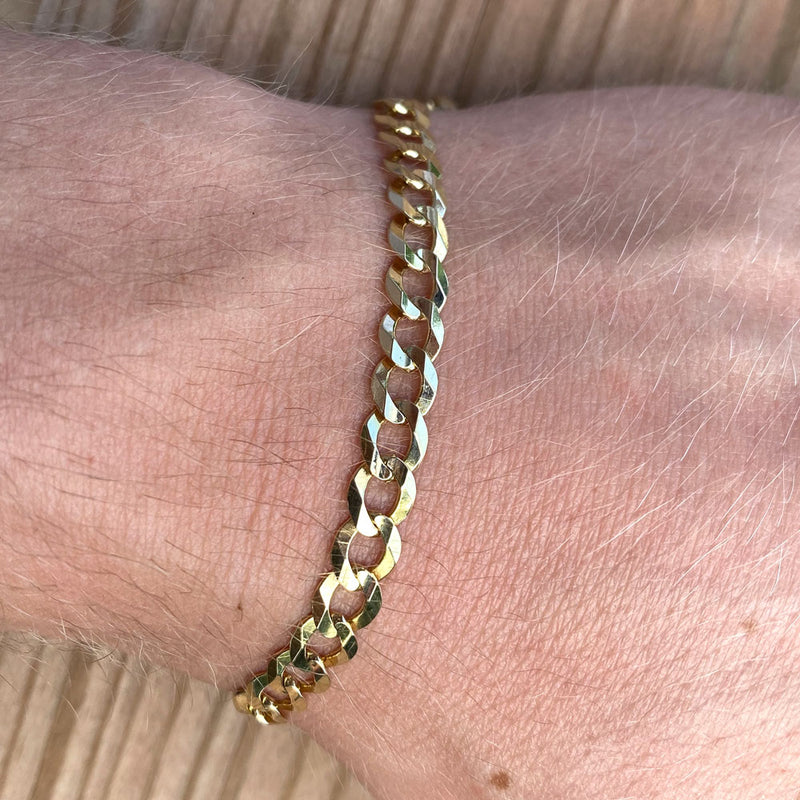 Solid Gold Curb Cuban Bracelet