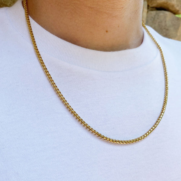 Solid Gold Curved Franco Chain | Gold Gods