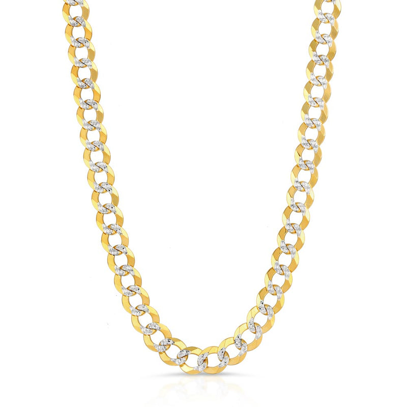 Solid Gold Pave Curb Cuban Chain Gold Gods® 1