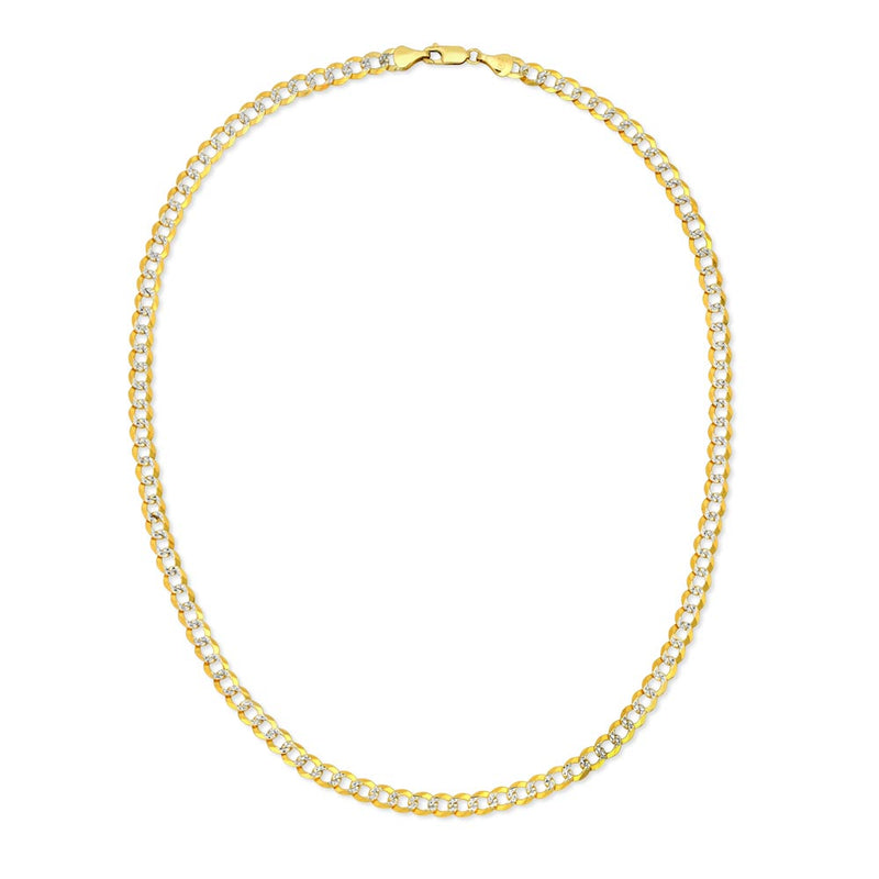 Solid Gold Pave Curb Cuban Chain Gold Gods® 3