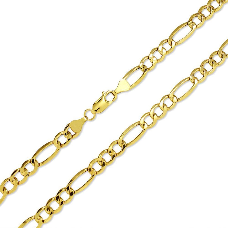 Men's Solid Gold Figaro Link Chain Gold Gods® Clasp