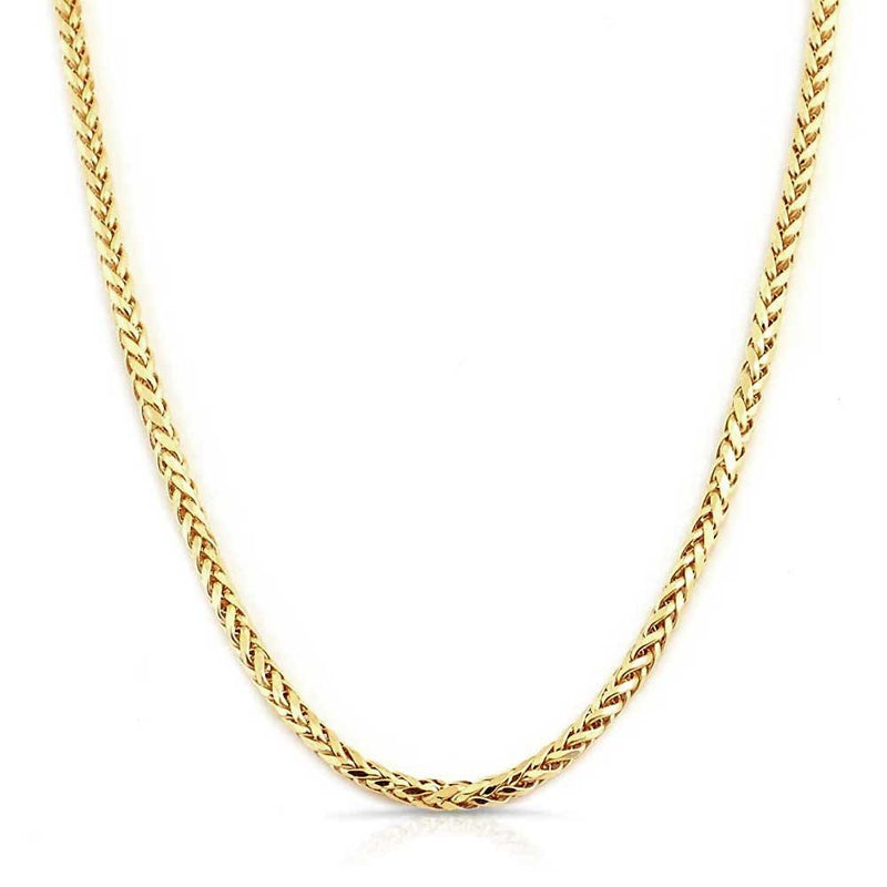 Solid Gold Palm Wheat Franco Chain | Gold Gods® 1