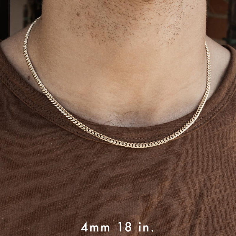 Solid Gold Miami Cuban Link Chain 4mm Gold Gods®