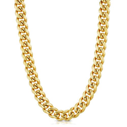 Miami Cuban Link Chain 6mm Gold Gods®  front view in gold