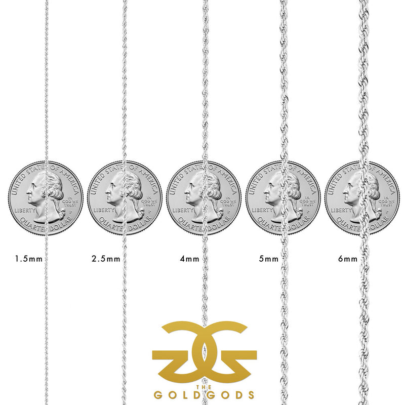 Solid Gold Rope Chain (White Gold) Lifetime Warranty + Free Shipping | Golds Gods® 4