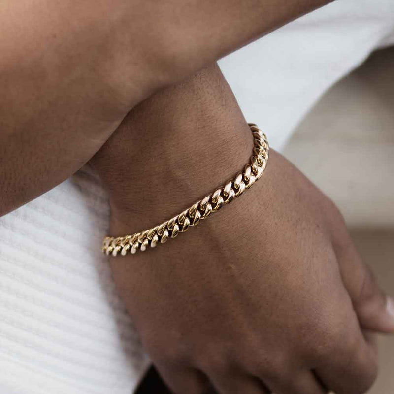 Miami Cuban Link Bracelet (6mm) Gold Gods® Lifestyle