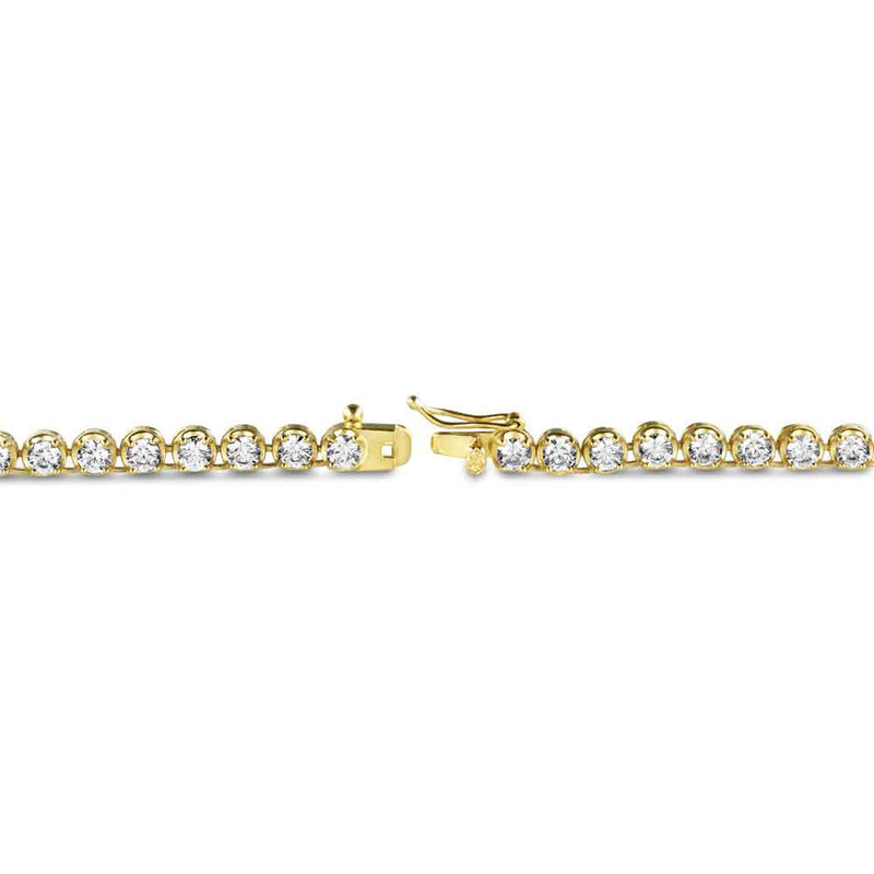 Tennis Gold Chain Diamond Buttercup 4mm Gold Golds® lock close up view