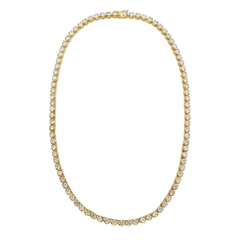 Tennis Gold Chain Diamond Buttercup 4mm Gold Golds® top view