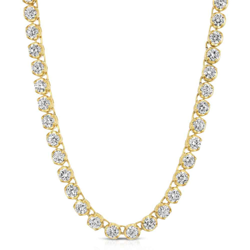 Tennis Gold Chain Diamond Buttercup 4mm Gold Golds® front view