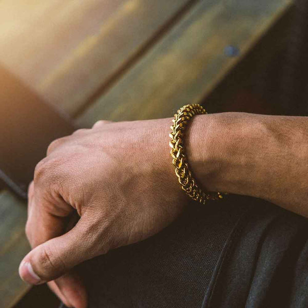 Franco Box Gold Bracelet Gold Gods® lifestyle look