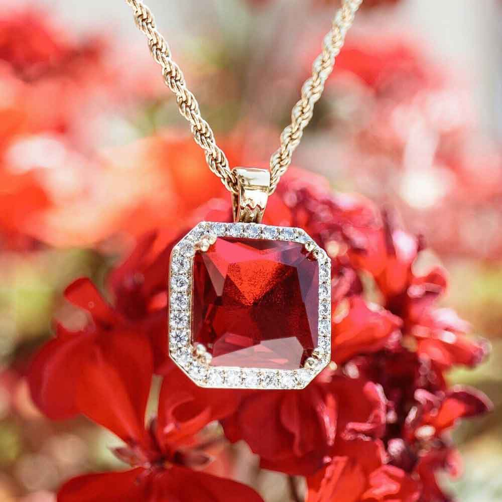 Aura Ruby Pendant Necklace