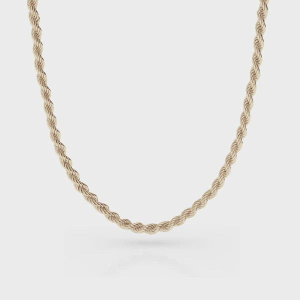 Rope Gold Chain 4mm