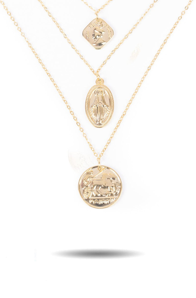 Women's  Layered Ancient Coin Necklace