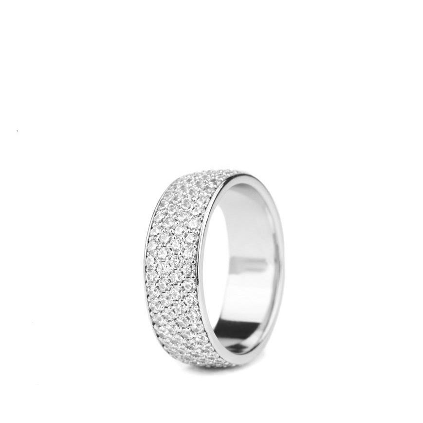 Diamond 4-Row Micro Eternity Ring in White Gold