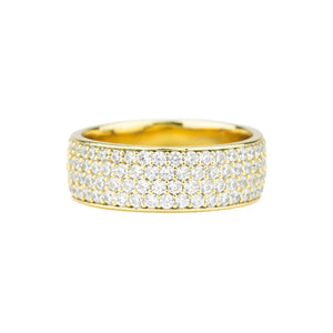 Diamond 4-Row Micro Eternity Ring *NEW*
