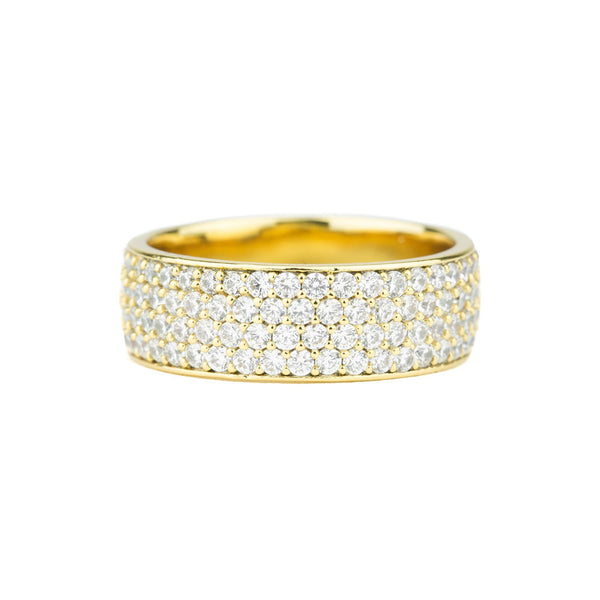 Diamond 4-Row Micro Eternity Ring Gold Gods®
