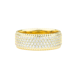 Diamond 4-Row Rope Ring *NEW*