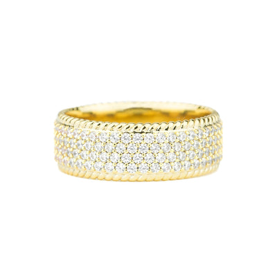 Diamond 4-Row Rope Ring