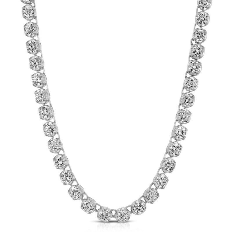 Diamond Buttercup Tennis White Gold Chain in White Gold Gold Gods® lifestyle look 2
