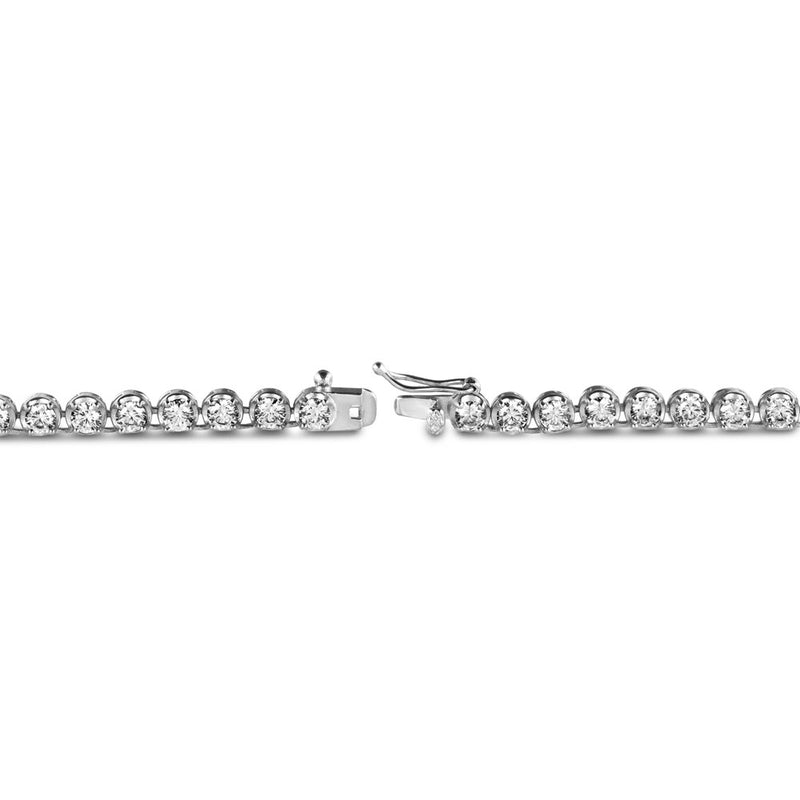 Diamond Buttercup Tennis White Gold Chain in White Gold Gold Gods® lifestyle look 3