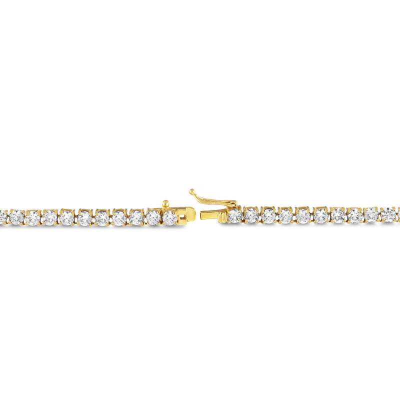Diamond Tennis Gold Chain (4mm) Gold Gods® lifestyle look 3