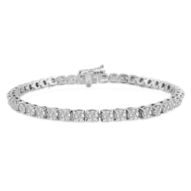 4mm White Gold Diamond Tennis Bracelet Gold Gods® white gold