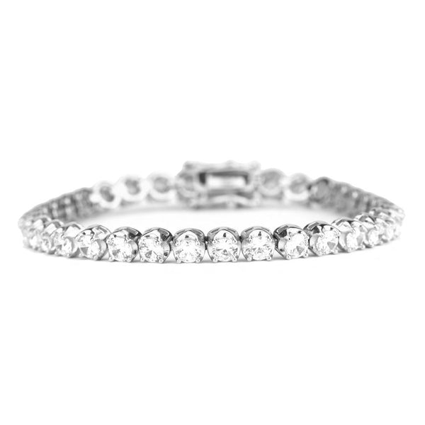 4mm Diamond Buttercup Tennis Bracelet in White Gold | Gold Gods®